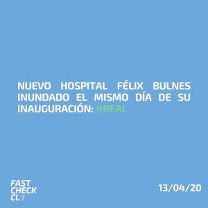 Nuevo Hospital Félix Bulnes inundado el mismo día de su inauguración: #Real