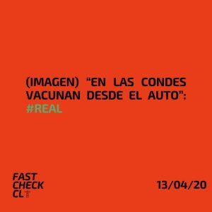 """(Imagen) """"En Las Condes vacunan desde el auto"""": #Real"""