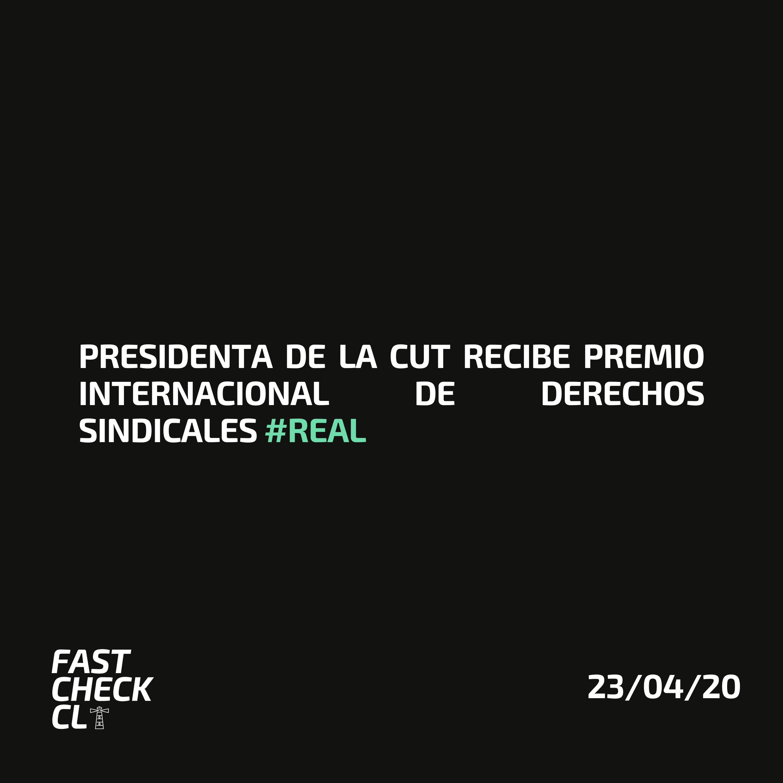 Read more about the article Presidenta de la CUT recibe premio internacional de derechos sindicales #Real