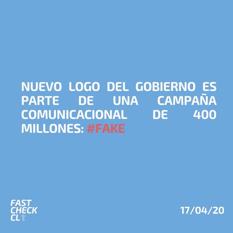 Nuevo logo del Gobierno es parte de una campaña comunicacional de 400 millones: #Fake