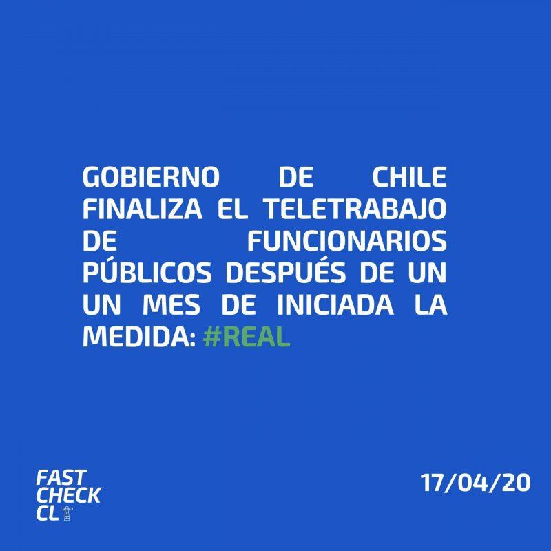 Gobierno de Chile finaliza el teletrabajo de funcionarios públicos después de un un mes de iniciada la medida: #Real