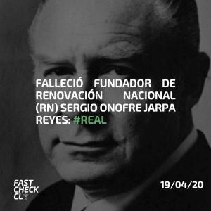 Falleció fundador de Renovación Nacional, Sergio Onofre Jarpa Reyes