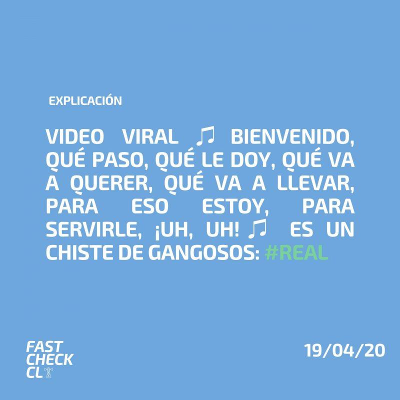 Video viral ♫Bienvenido, qué paso, qué le doy, qué va a querer, qué va a llevar, para eso estoy, para servirle, ¡uh, uh!♫ es un chiste de gangosos: #Real