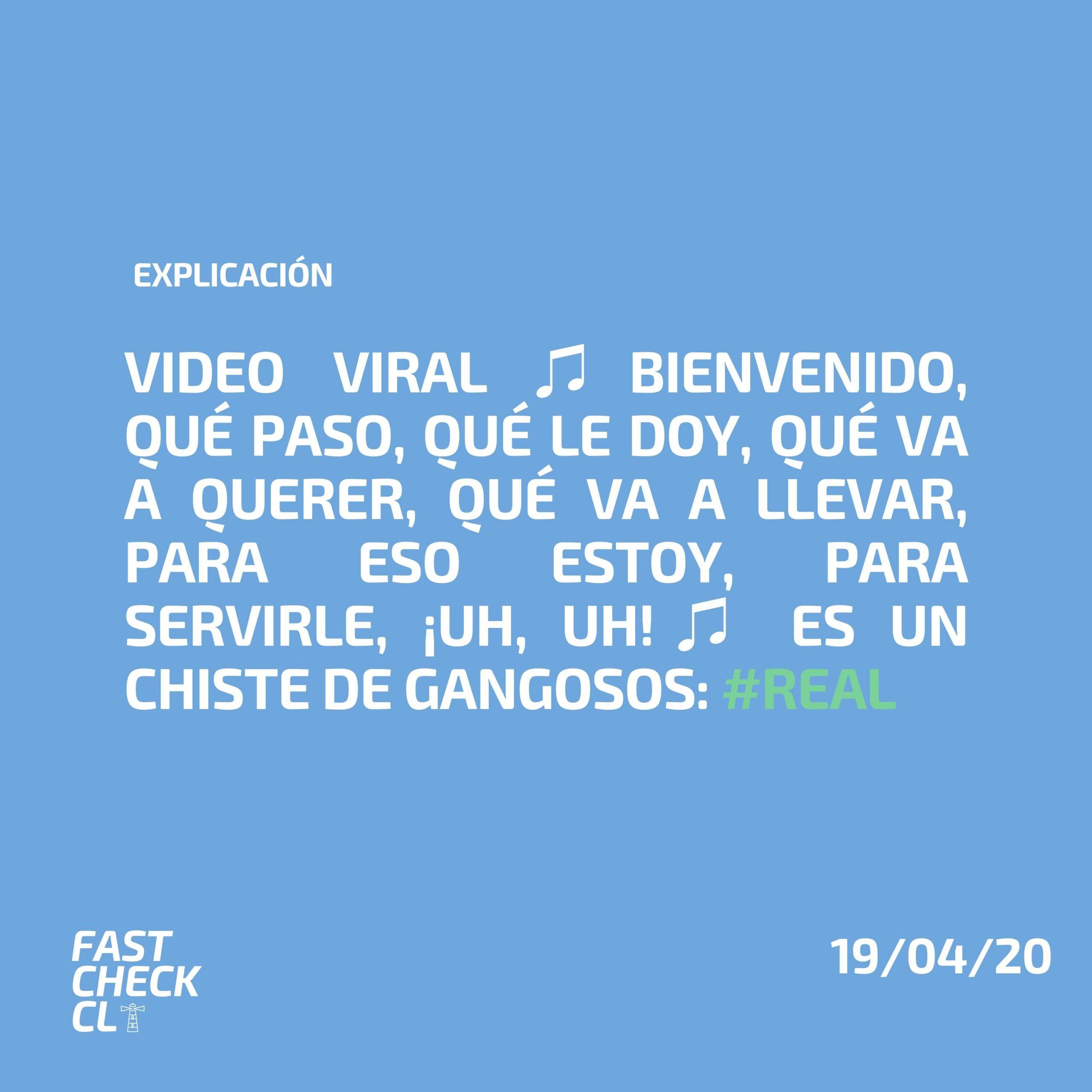 Read more about the article Video viral ♫Bienvenido, qué paso, qué le doy, qué va a querer, qué va a llevar, para eso estoy, para servirle, ¡uh, uh!♫ es un chiste de gangosos: #Real