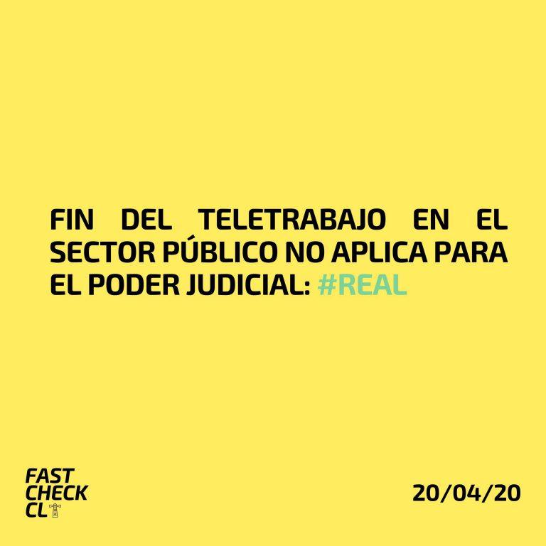 Fin del teletrabajo en el sector público no aplica para el Poder Judicial: #Real