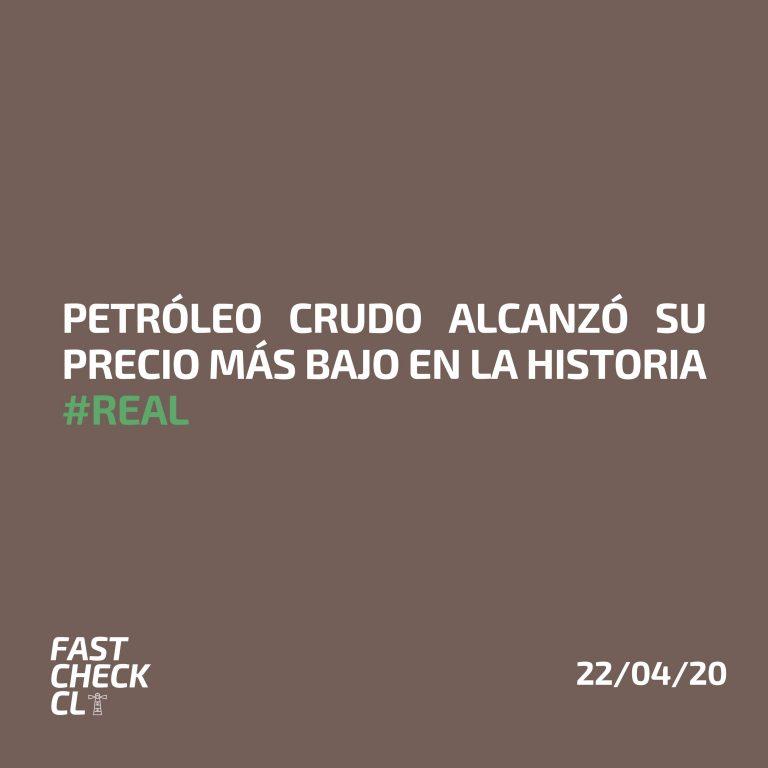 Petróleo crudo alcanzó su precio más bajo en la historia #Real