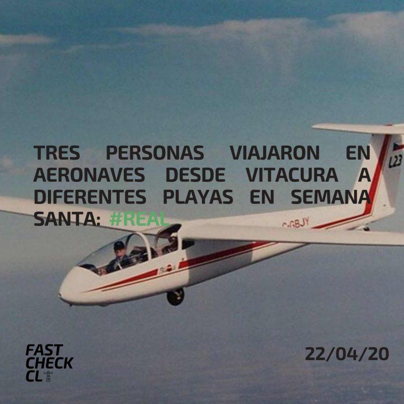 Tres personas viajaron en aeronaves desde Vitacura a diferentes playas en Semana Santa: #Real