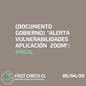 """(Documento gobierno)""""Alerta vulnerabilidades aplicación zoom"""": #Real"""