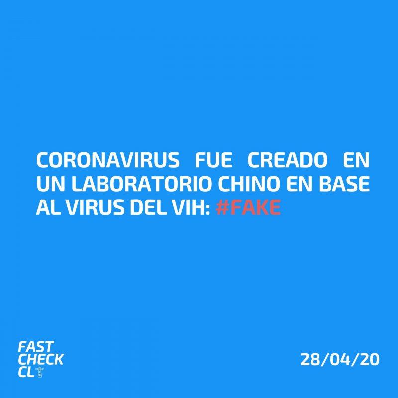 Coronavirus fue creado en un laboratorio chino en base al virus del VIH: #Fake
