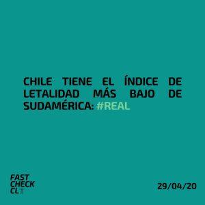 Chile tiene el Índice de Letalidad más bajo de la Sudamérica: #Real