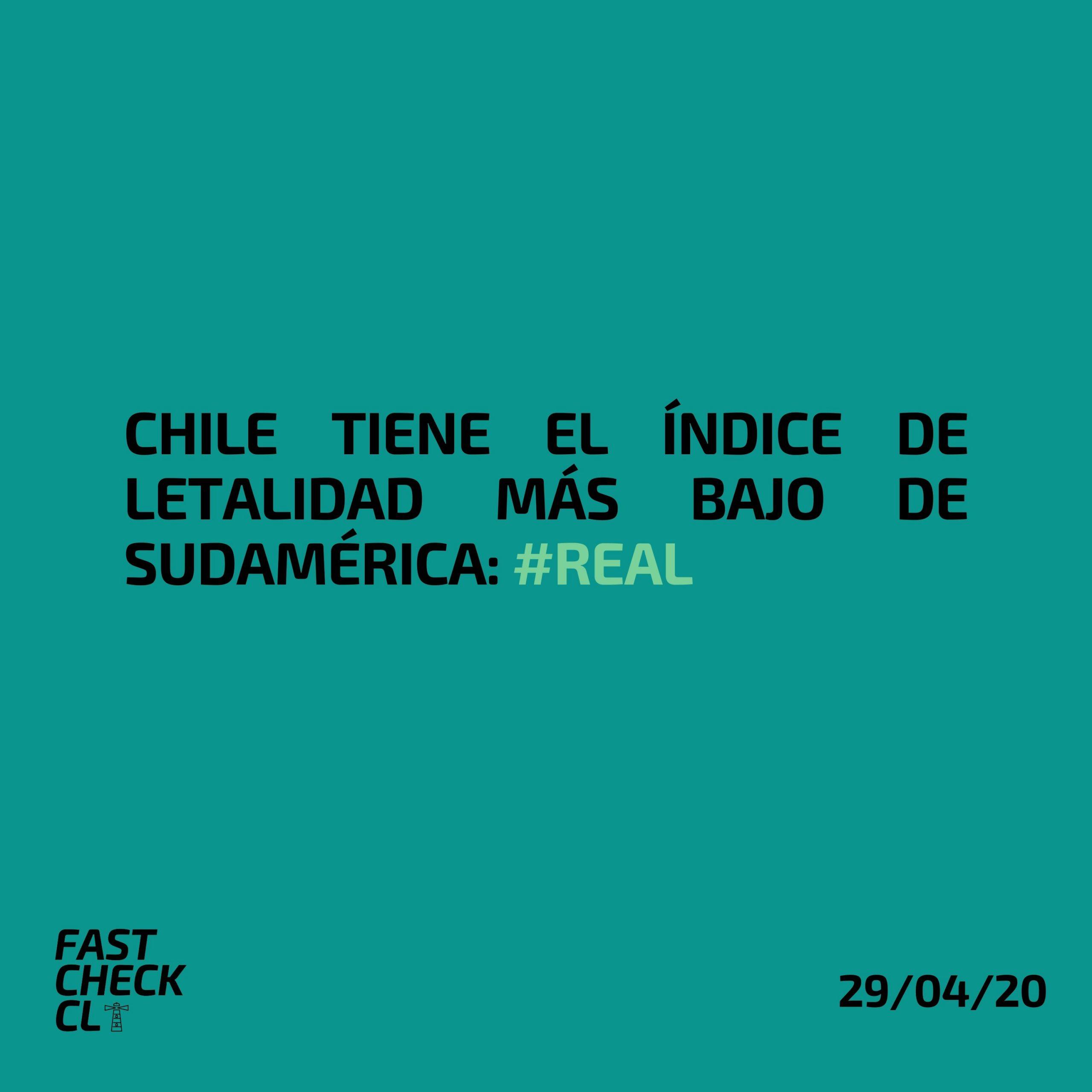 Read more about the article Chile tiene el Índice de Letalidad más bajo de la Sudamérica: #Real