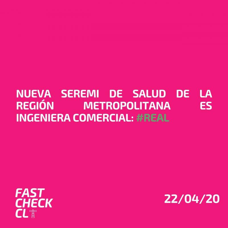 Nueva Seremi de Salud de la Región Metropolitana es Ingeniera Comercial: #Real