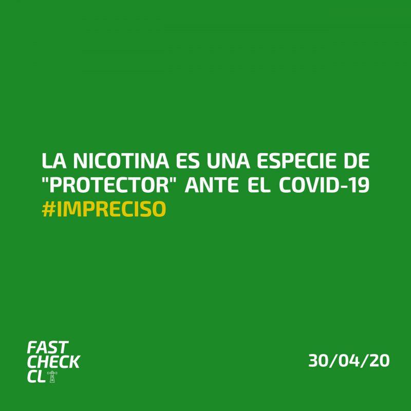 """La nicotina es una especie de """"protector"""" ante el Covid-19 #Impreciso"""