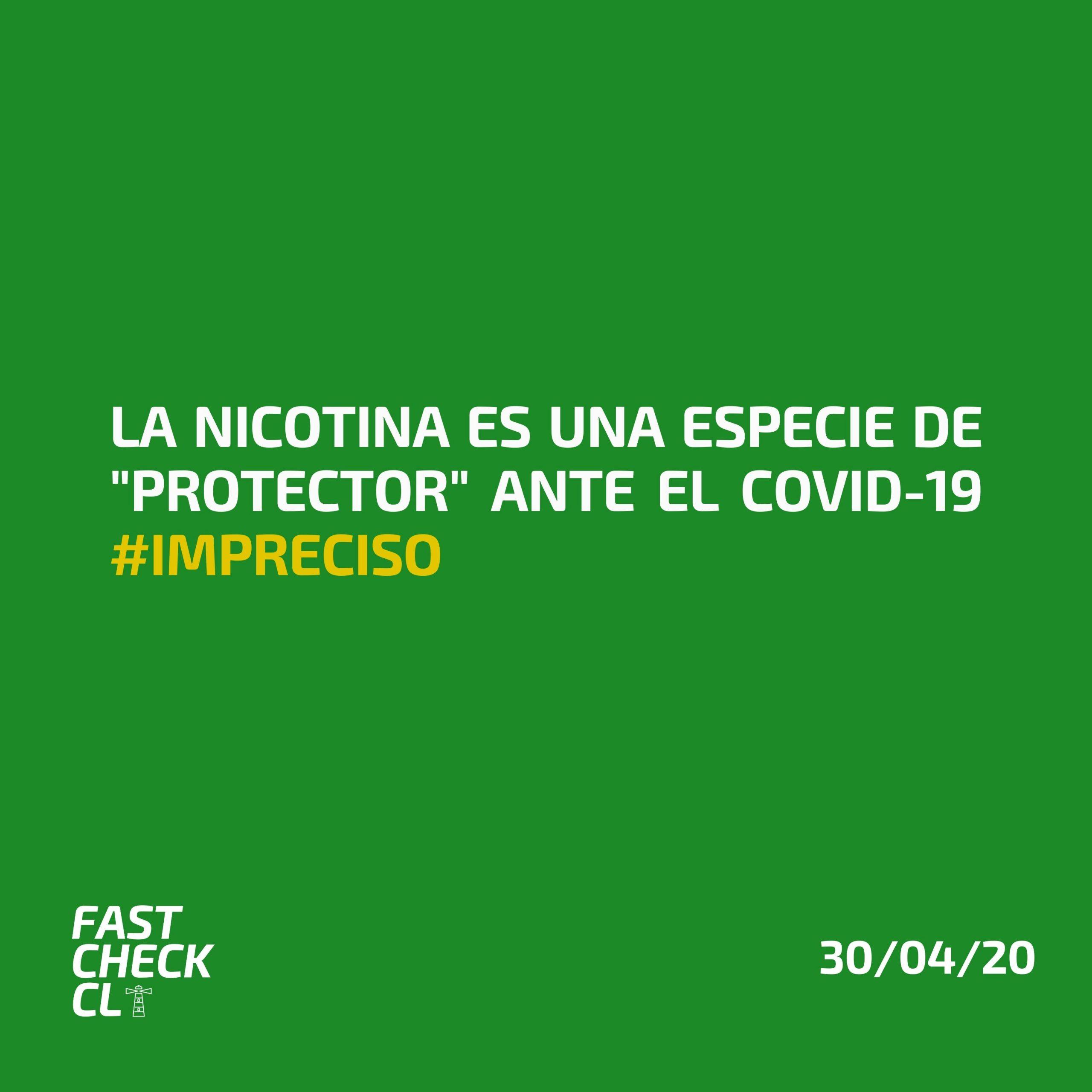 """Read more about the article La nicotina es una especie de """"protector"""" ante el Covid-19 #Impreciso"""