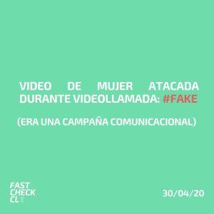 Video de mujer atacada durante videollamada: #Fake  (Era una campaña comunicacional)