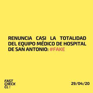 Renuncia casi la totalidad del equipo médico de Hospital de San Antonio #Fake