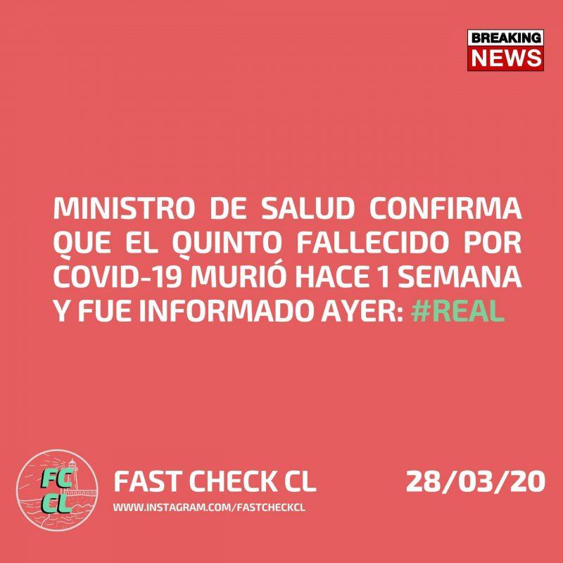 Ministro de Salud confirma que el quinto fallecido por covid-19 murió hace 1 semana y fue informado ayer: #Real