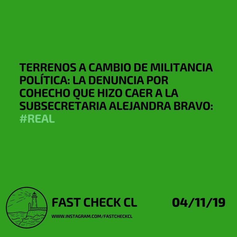 Terrenos a cambio de militancia política: la denuncia por cohecho hizo caer a la subsecretaria Alejandra Bravo: #Real