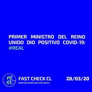 Primer ministro del Reino Unido dio positivo covid-19: #Real