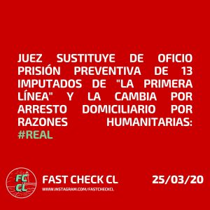 """Juez sustituye de oficio prisión preventiva de 13 imputados de """"la Primera Línea"""" y la cambia por arresto domiciliario por razones humanitarias: #Real"""
