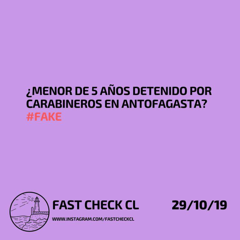 ¿Menor de 5 años detenido por carabineros en Antofagasta? #Fake