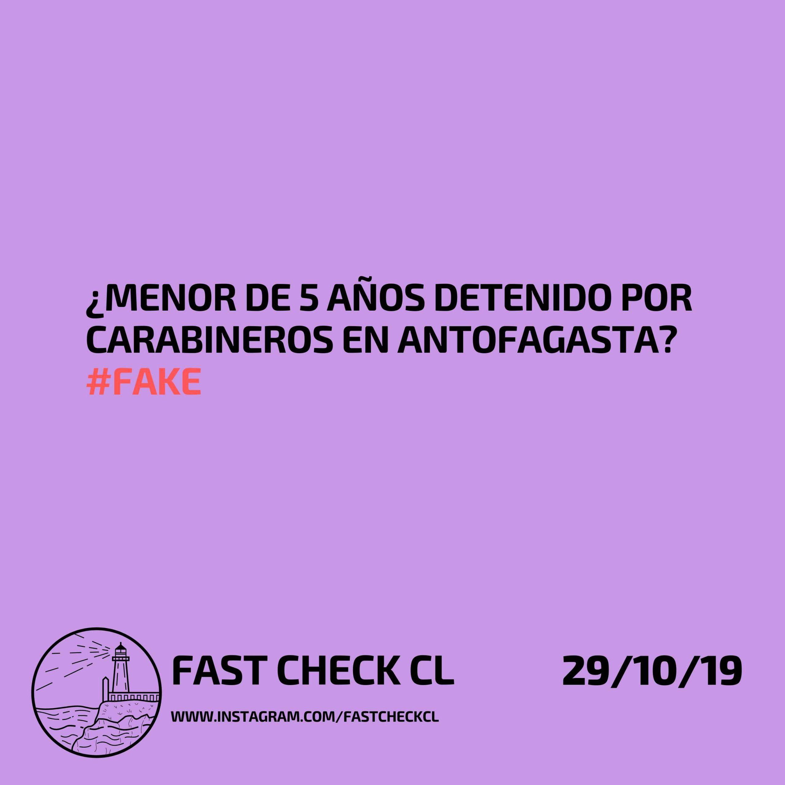 Read more about the article ¿Menor de 5 años detenido por carabineros en Antofagasta? #Fake