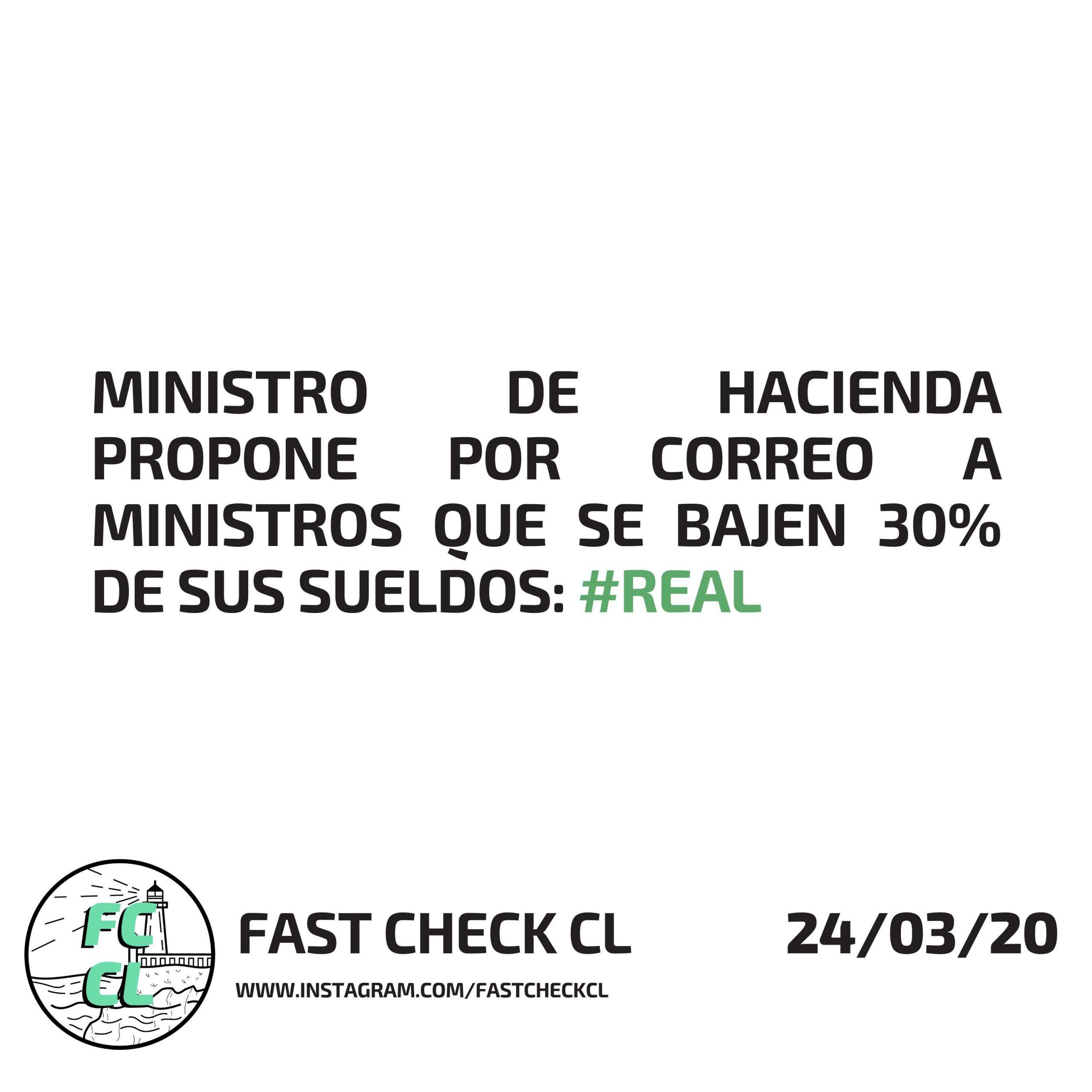 Ministro de Hacienda propone a ministros por correo que se bajen 30% de sus sueldos: #Real