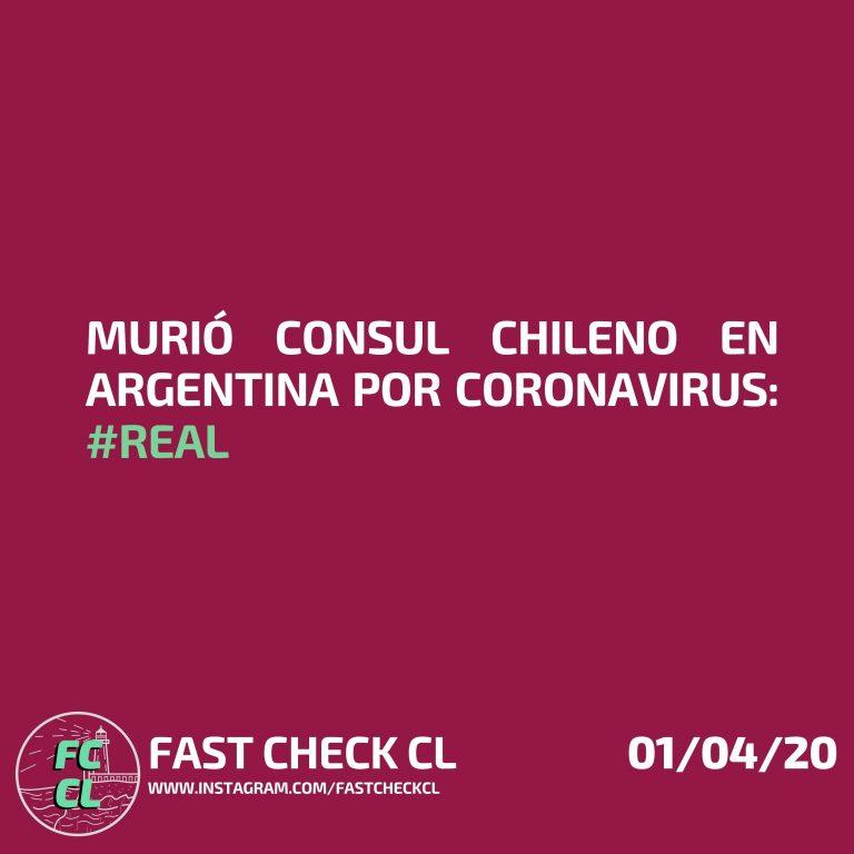 Murió consul chileno en argentina por coronavirus: #real