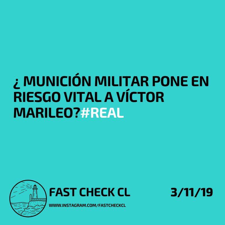Munición militar pone en riesgo vital a Víctor Marileo: #Real