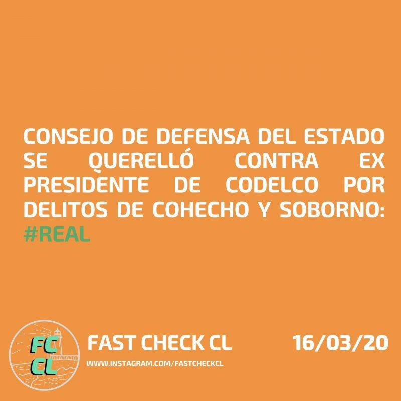 Consejo de Defensa del Estado se querelló contra ex presidente de Codelco por delitos de cohecho y soborno: #Real