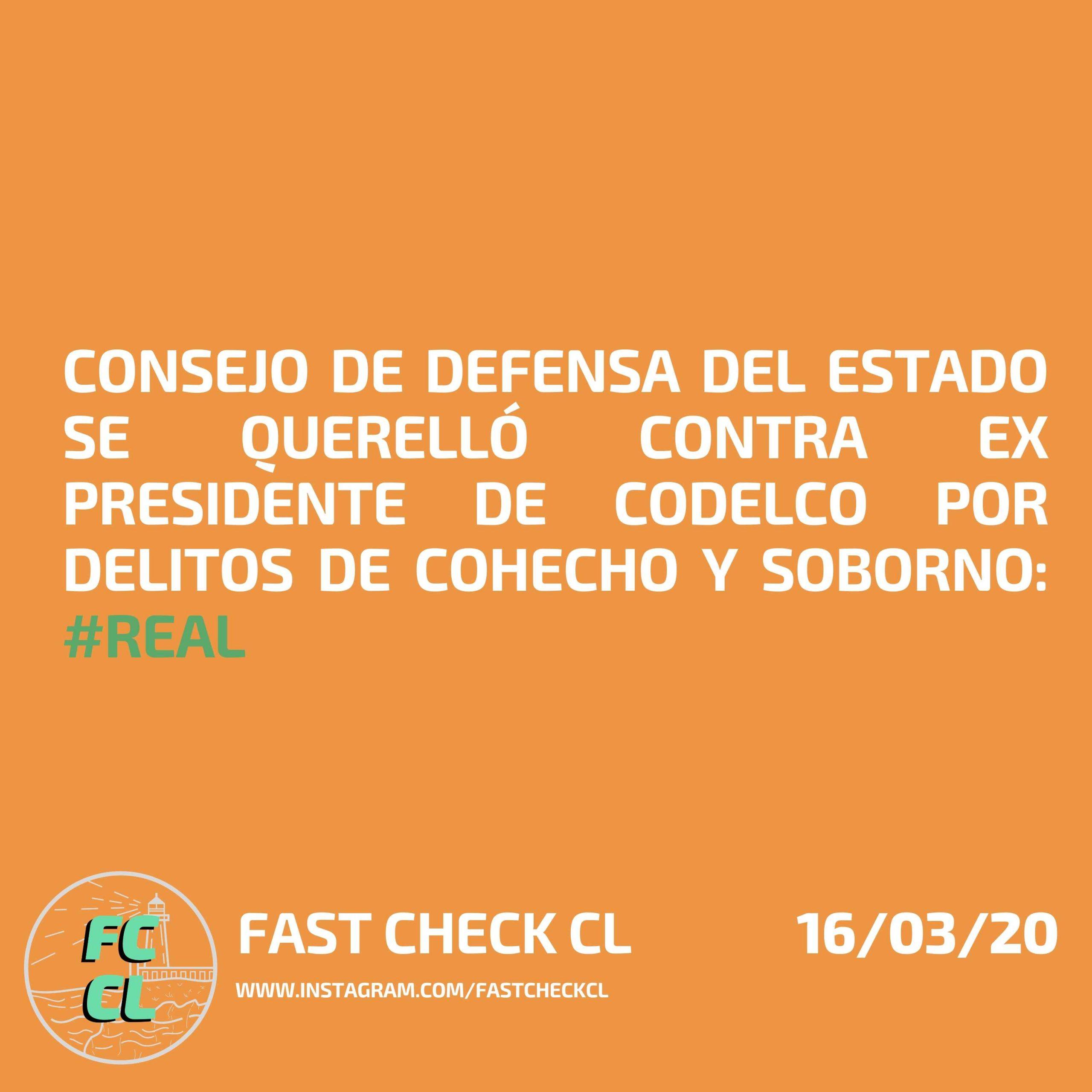Read more about the article Consejo de Defensa del Estado se querelló contra ex presidente de Codelco por delitos de cohecho y soborno: #Real