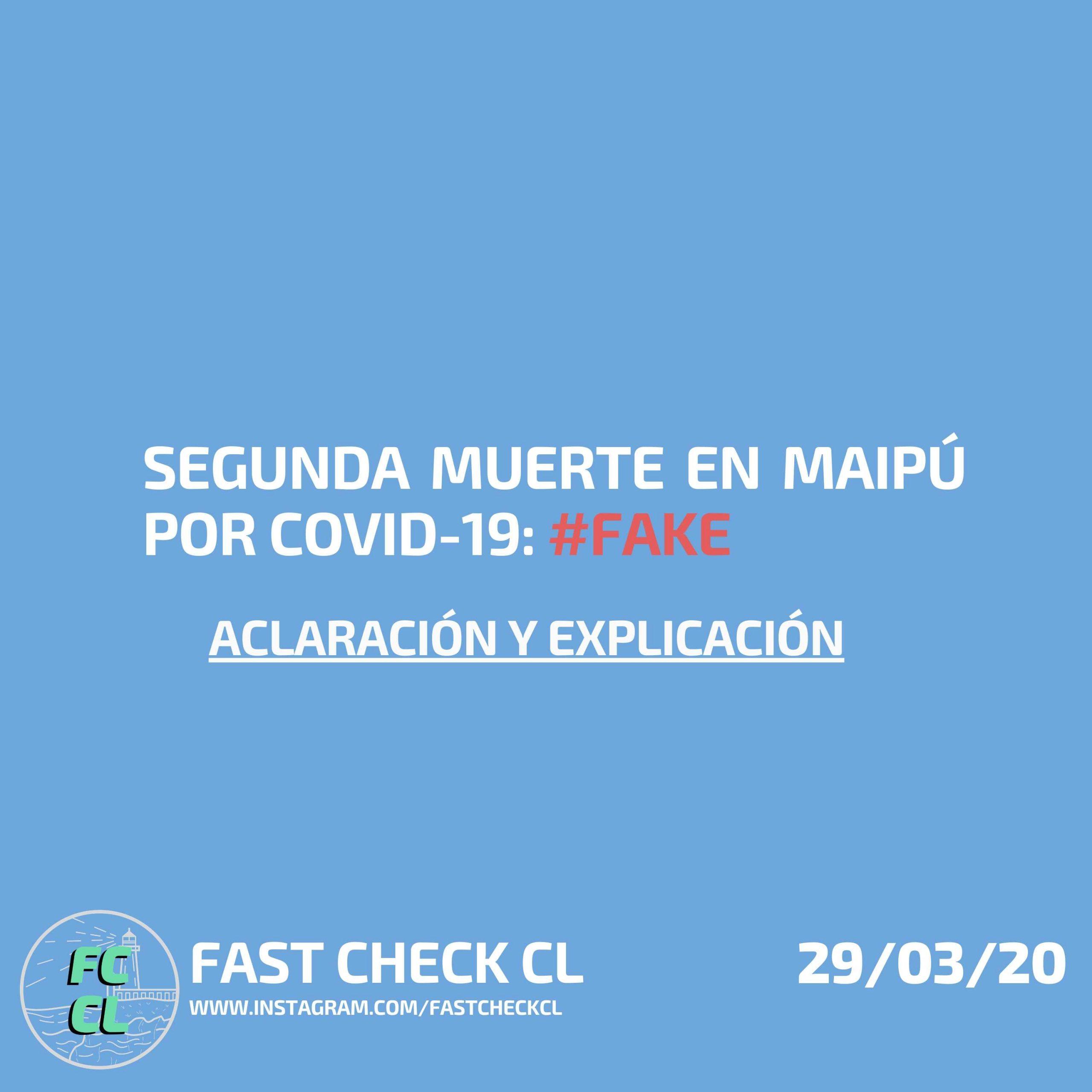 Segunda muerte en maipú por covid-19: #Fake