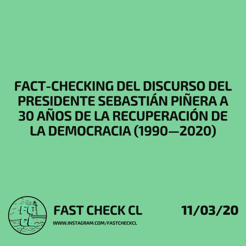Fact-checking del discurso del presidente Sebastián Piñera a 30 años de la recuperación de la democracia (1990—2020)