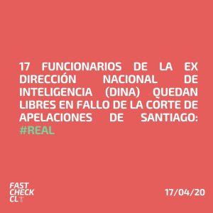 17 funcionarios de la Ex Dirección Nacional de Inteligencia (DINA) quedan libres en fallo de la Corte de Apelaciones de Santiago: #Real