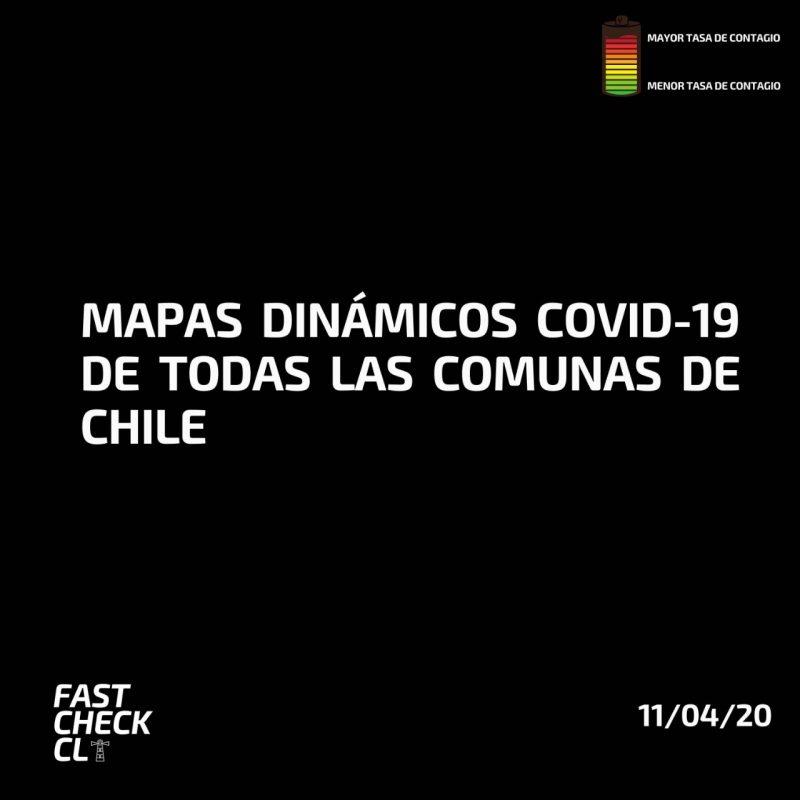 Mapas dinámicos Covid-19 de todas las comunas de Chile