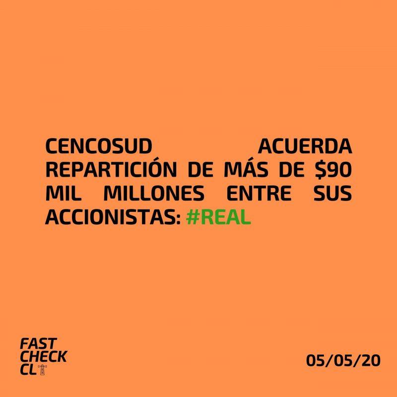 Cencosud acuerda repartición de más de $90 mil millones entre sus accionistas: #Real