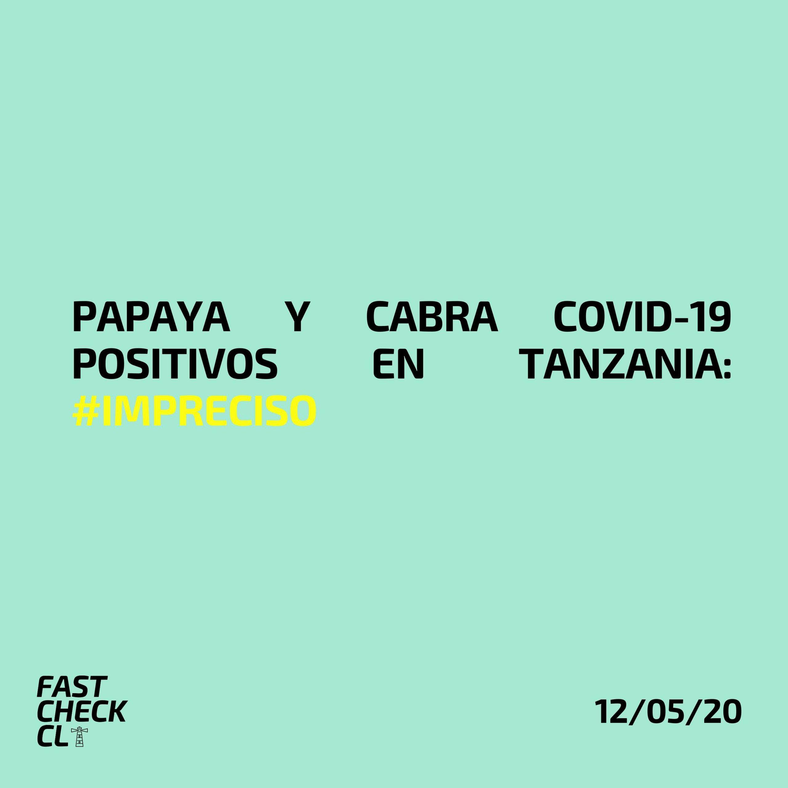 Papaya y cabra Covid-19 positivos en Tanzania: #Impreciso