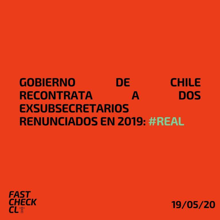 Gobierno de Chile recontrata a dos exsubsecretarios renunciados en 2019: #Real