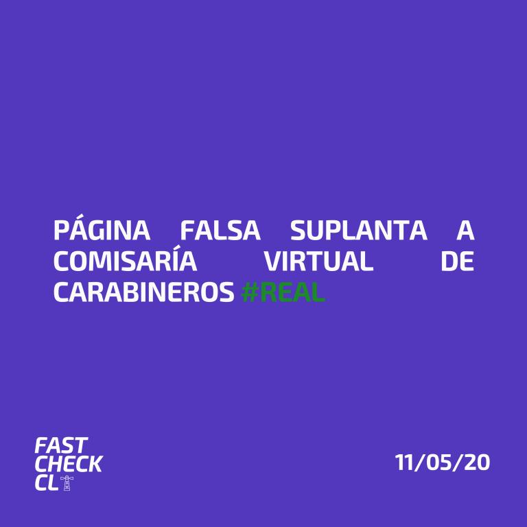 Página falsa suplanta a Comisaria Virtual de Carabineros #Real