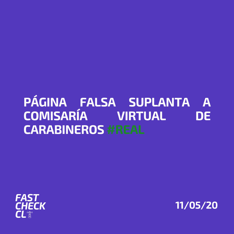 Read more about the article Página falsa suplanta a Comisaria Virtual de Carabineros #Real