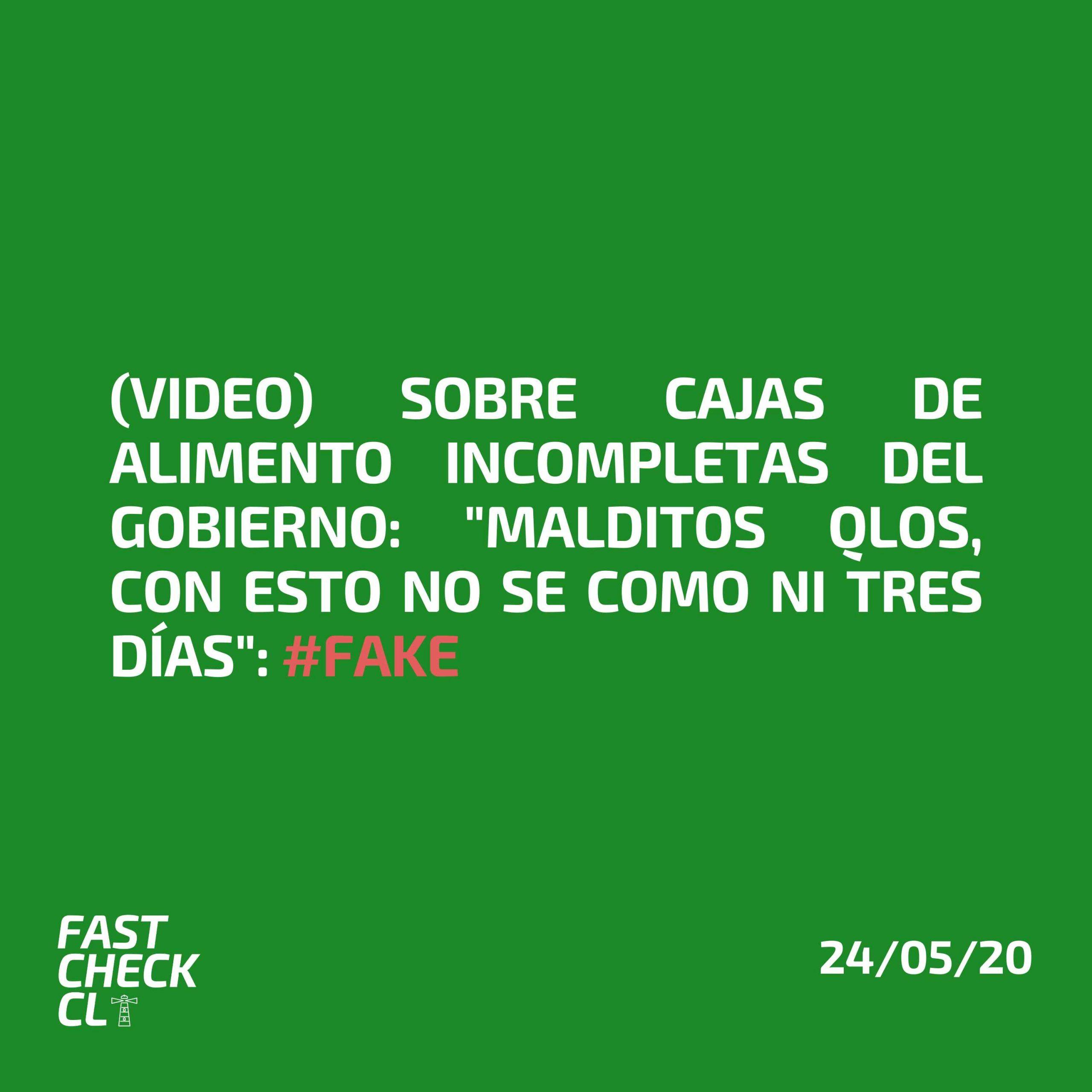 """(Video) Sobre cajas de alimento incompletas del Gobierno: """"Malditos qlos, con esto no se como ni tres días"""": #Fake"""