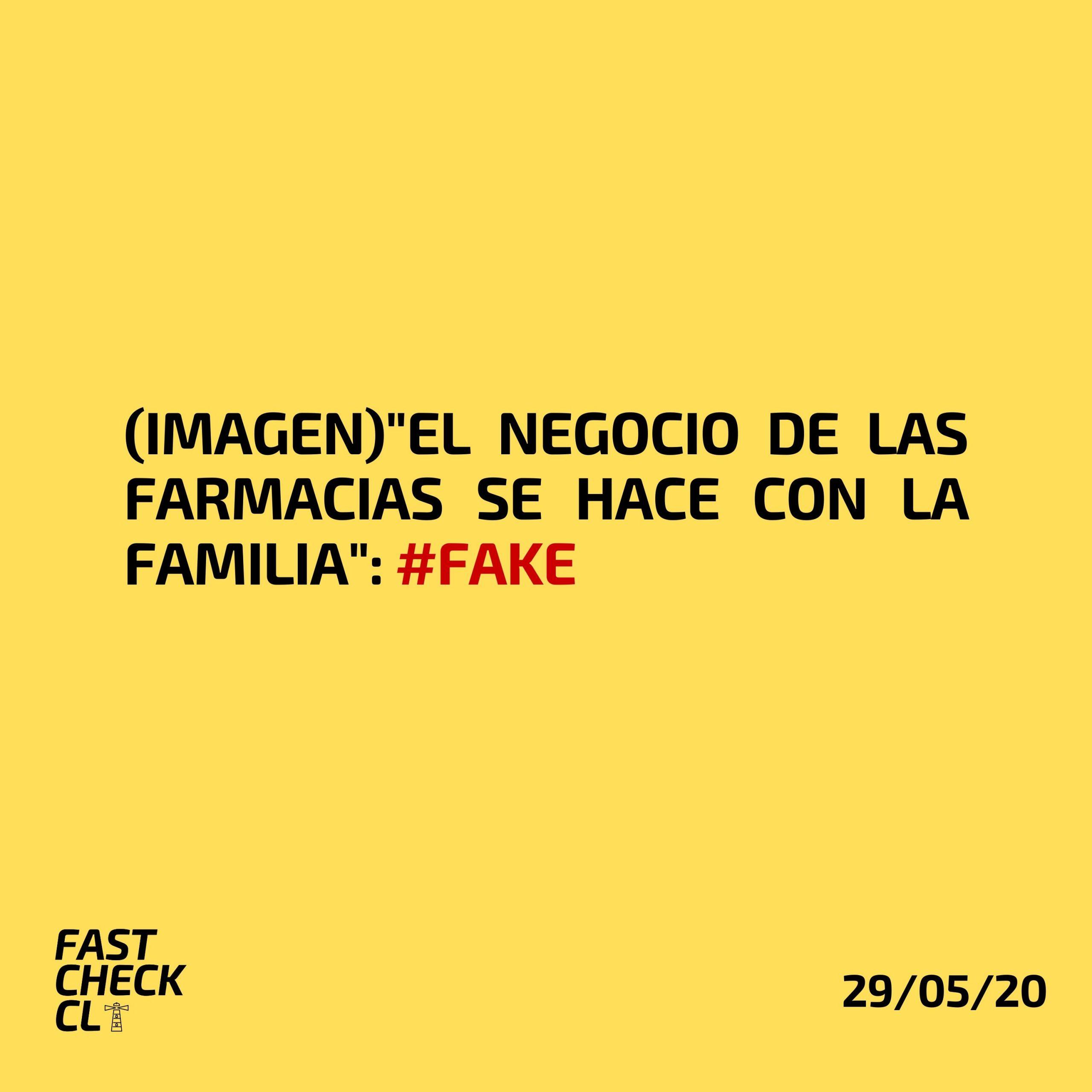 """Read more about the article (Imagen)""""El negocio de las farmacias se hace con la familia"""": #Fake"""