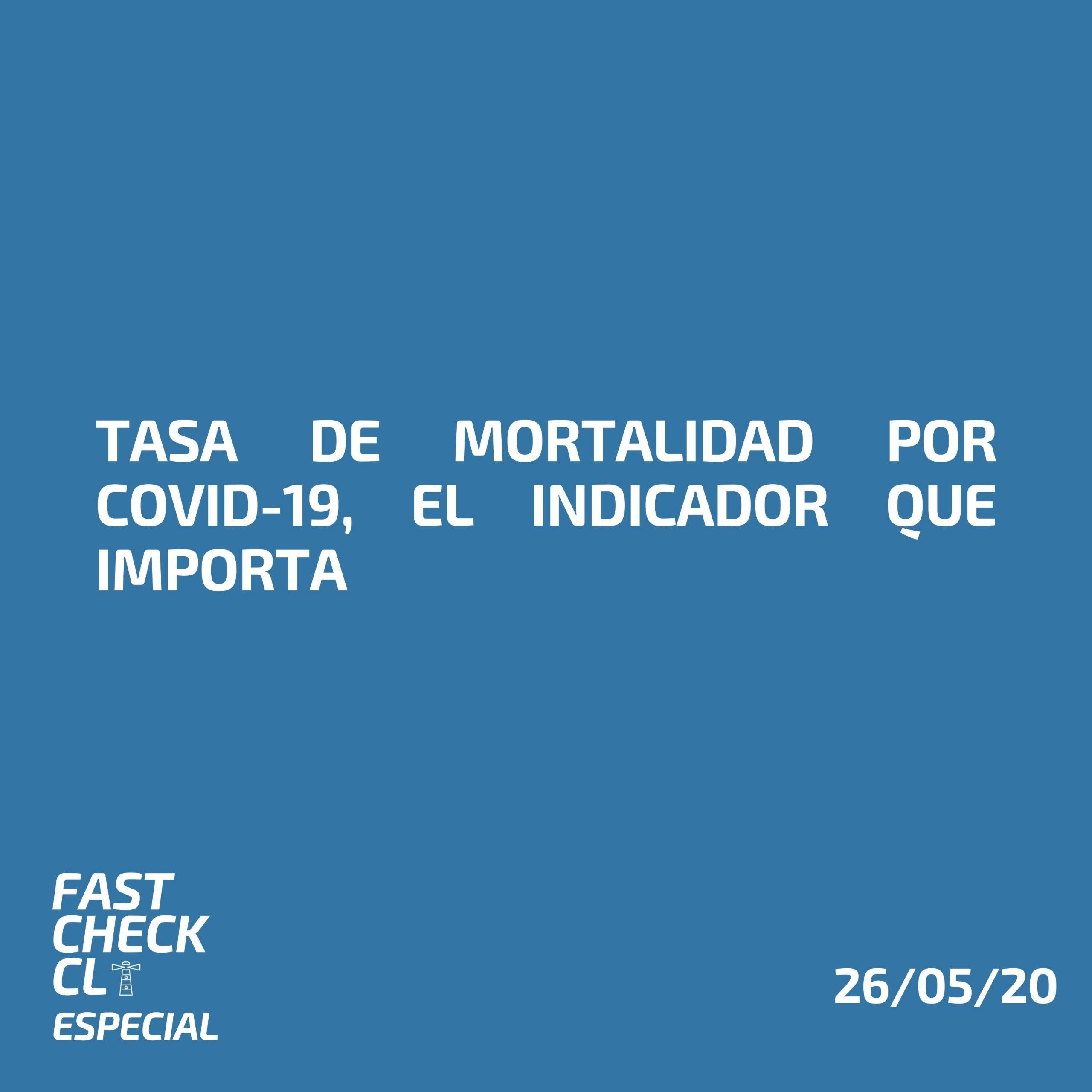 Tasa de Mortalidad por Covid-19, el indicador que importa.