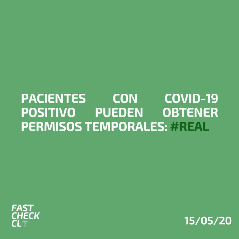 Pacientes con Covid-19 positivo pueden obtener permisos temporales: #Real
