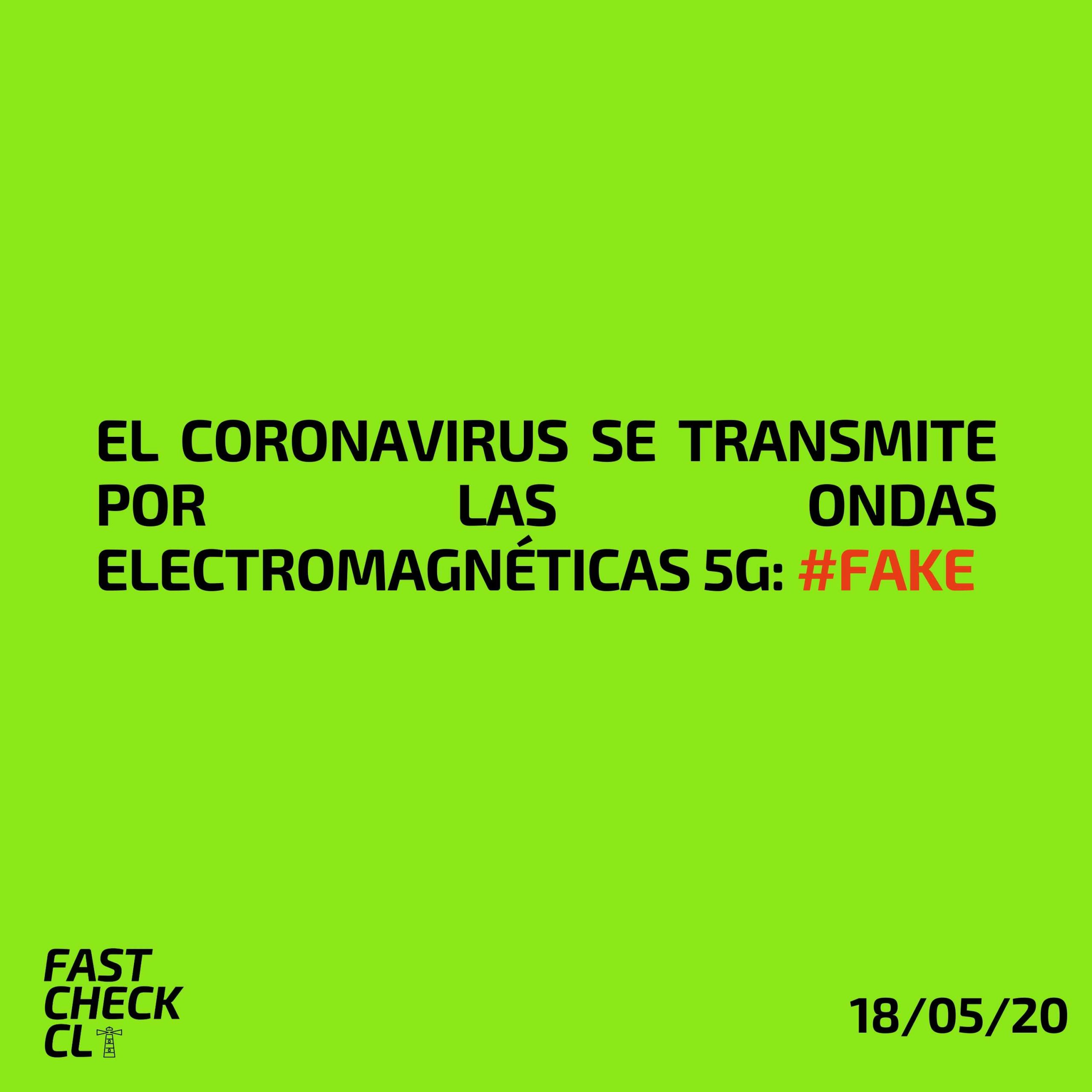 El Coronavirus se transmite por las ondas electromagnéticas 5G: #Fake