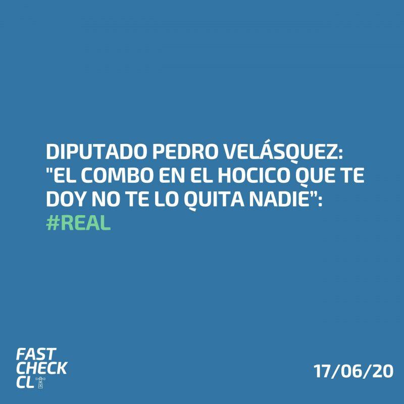 """Diputado Pedro Velásquez: """"El combo en el hocico que te doy no te lo quita nadie"""": #Real"""