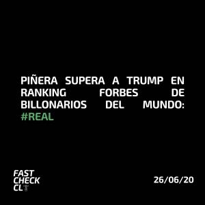 Piñera supera a Trump en ranking Forbes de billonarios del mundo: #Real