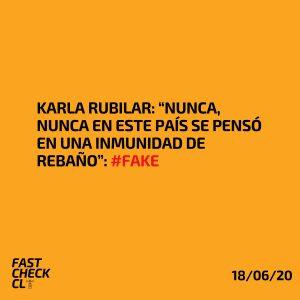"""Karla Rubilar: """"Nunca, nunca en este país se pensó en una Inmunidad de Rebaño"""": #Fake"""