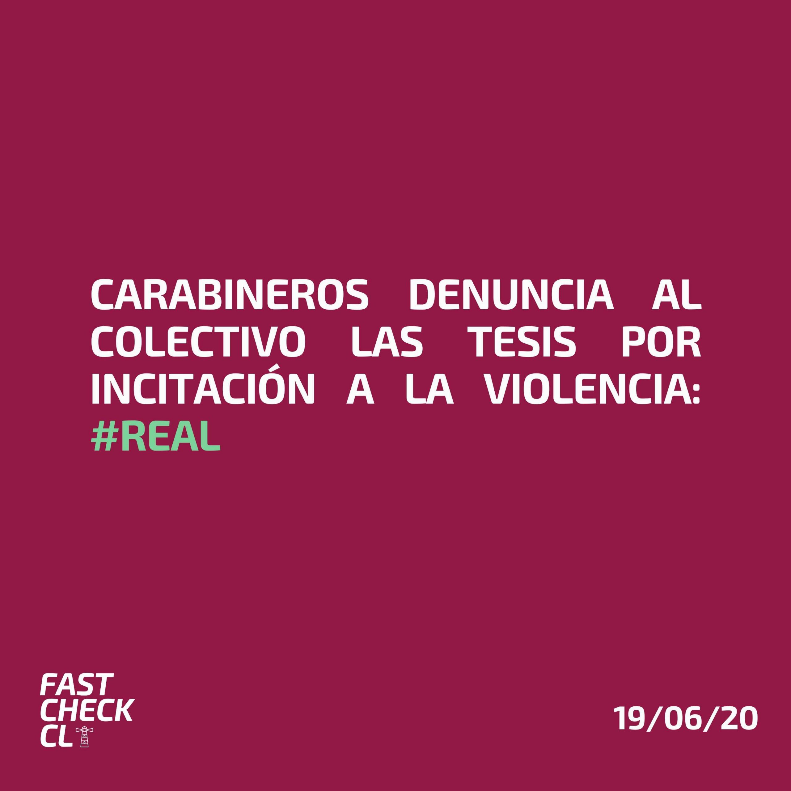 Carabineros denuncia al colectivo Las Tesis por incitación a la violencia: #Real