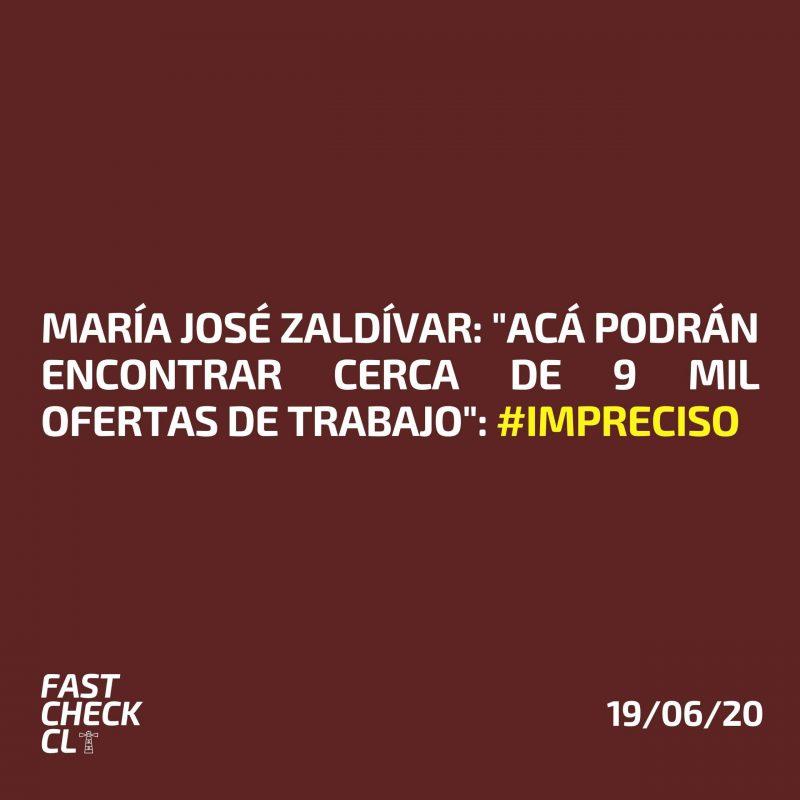 """María José Zaldívar: """"Acá podrán encontrar cerca de 9 mil ofertas de trabajo"""": #Impreciso"""